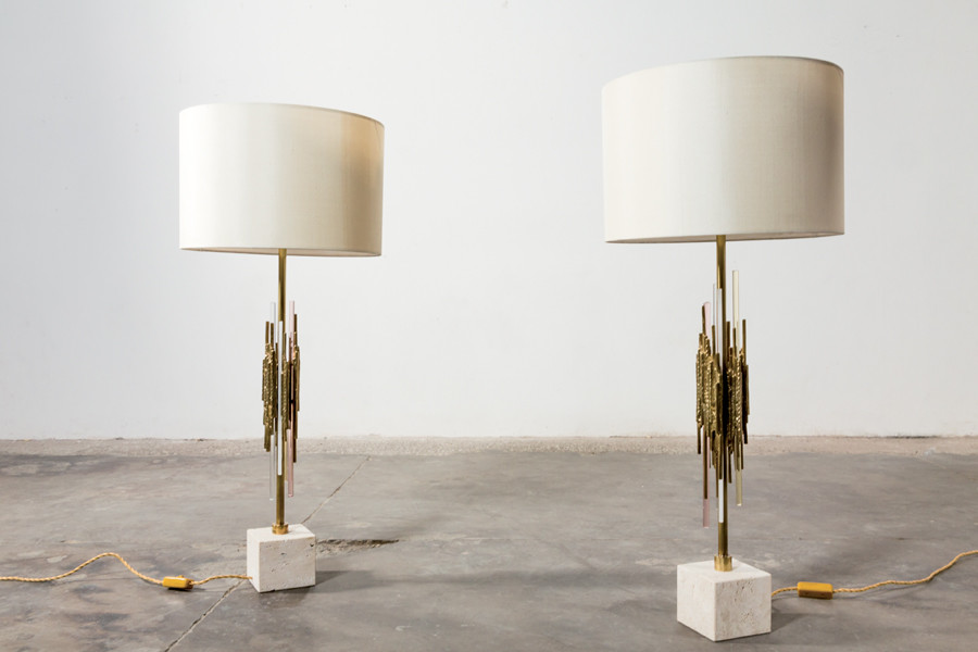 Mod. Pair of Table Lamps