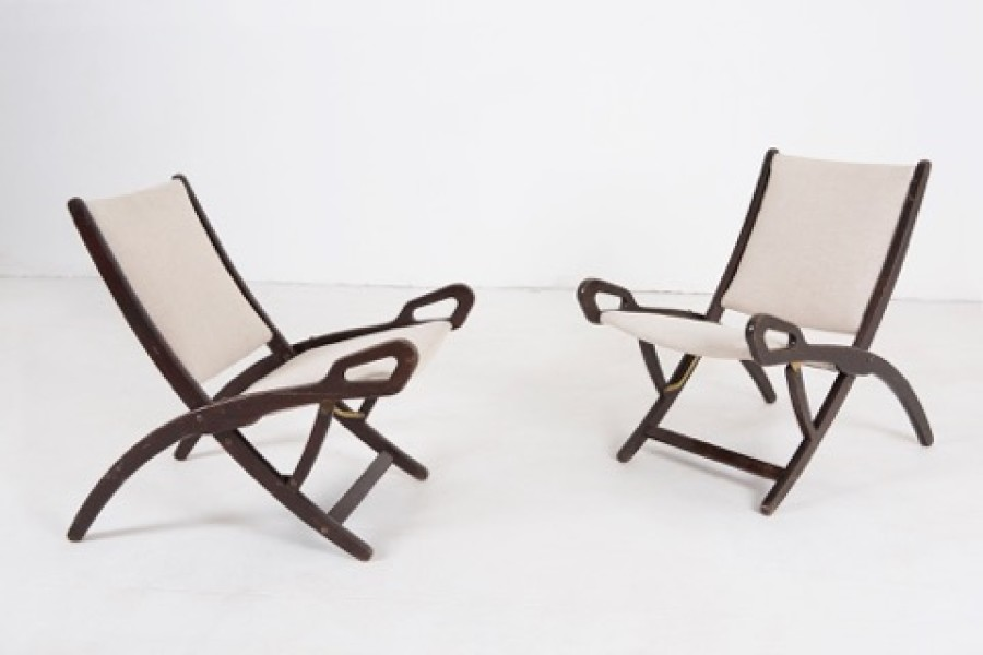 Mod. Two Ninfea folding chairs